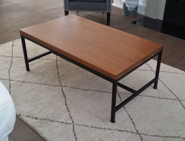 table-salon-bois-metal