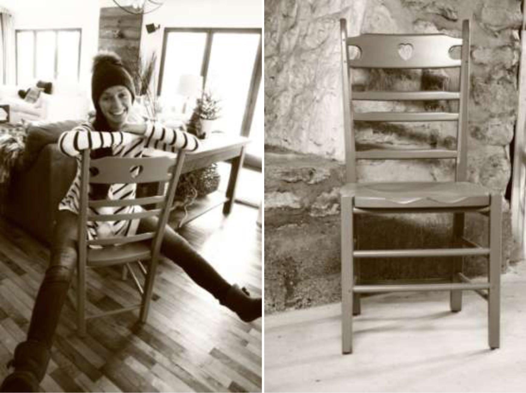 La Caroline, Chaise de cuisine en bois d'érable
