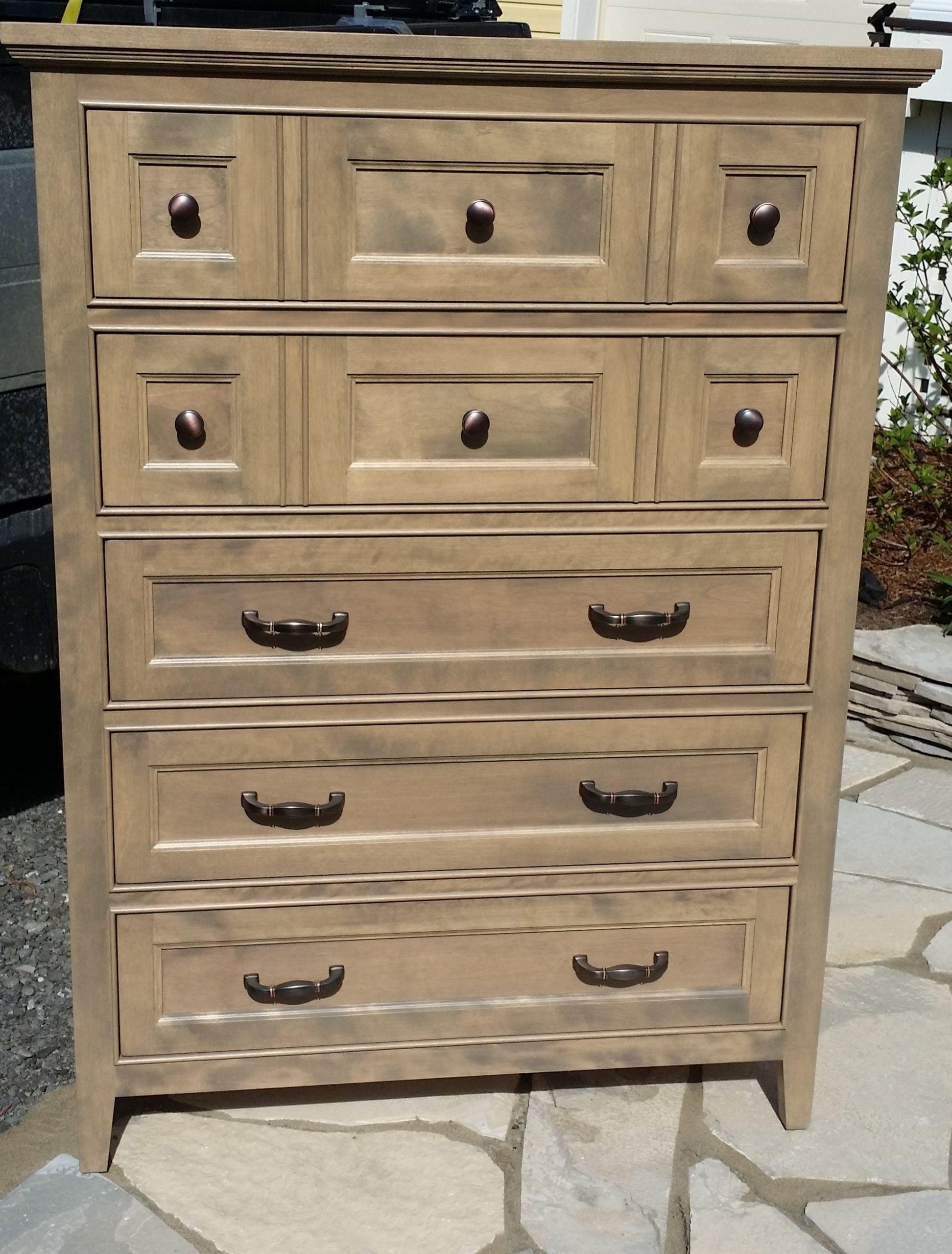 Commode 5 tiroirs en bois