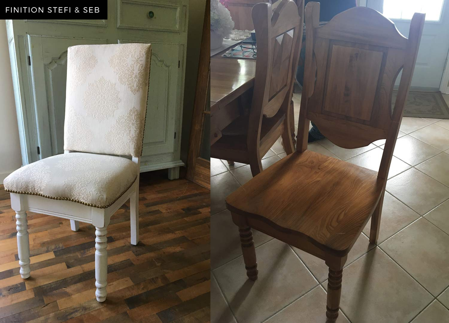 Finition et Rembourrage de chaise antique Montreal