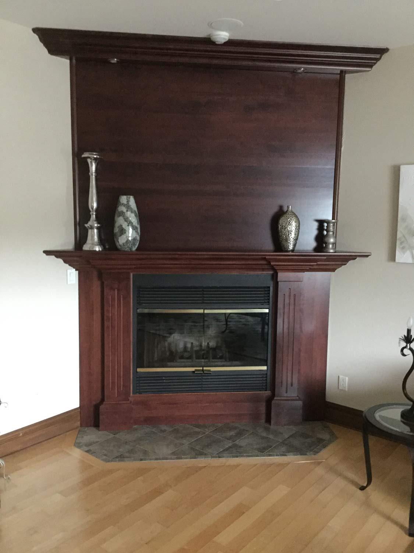 Surfaçage de manteau de cheminée