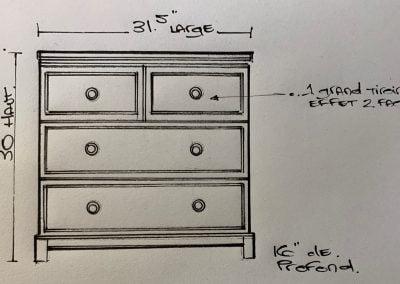 Design table de cheve